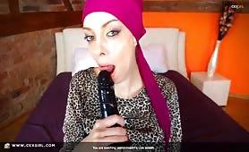 JasminMuslim | CKXGirl™ | Sucking Dildo | www.ckxgirl.com