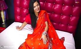 DevikaChaste | CKXGirl™ | Red Sari Pakistani Desi | www.ckxgirl.com