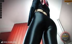 JasminMuslim | CKXGirl™ | Black Stain Leggings & Velvet Crop Top | www.ckxgirl.com
