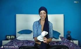 JasminMuslim   CKXGirl™   Blue Shirt & Leather Pants   www.ckxgirl.com