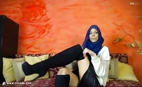 JasminMuslim | CKXGirl™ | Blue Hijab & Knee High Boots | www.ckxgirl.com