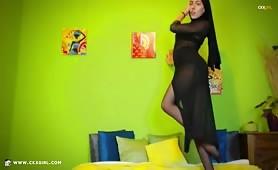 ZeiraMuslim | CKXGirl™ | Black Pantyhose & Dress | www.ckxgirl.com