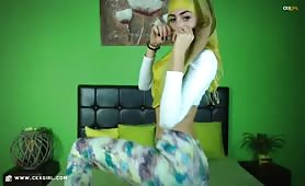 ZeiraMuslim | CKXGirl™ | Floral Leggings & Green Hijab | www.ckxgirl.com