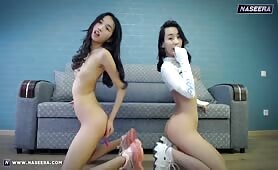 2 Asian Lesbian Teens Squirting on Webcam at Naseera.com